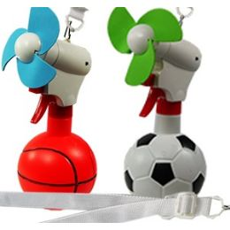 24 Units of Sport Ball Water Fans - Spray Bottles