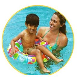 36 Units of Lovely Swim Rings. - Inflatables