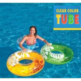 16 Units of CLEAR TROPICAL SWIM RINGS - Inflatables