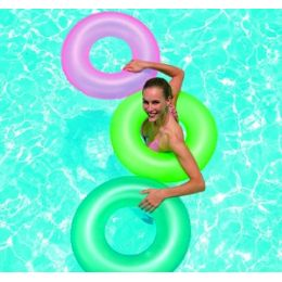 24 Units of Frosted Neon Swim Rings. - Inflatables
