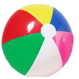 72 Units of Classic Inflatable Beach Ball - Beach Toys