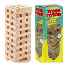 48 Units of WOOD TOWER GAMES - Dominoes & Chess