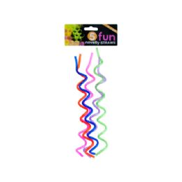 72 Units of Fun Swirl Novelty Straws Set - Foam & Felt