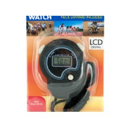 15 Units of Sport Stopwatch with Neck Cord - Workout Gear