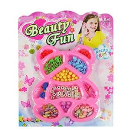 72 Units of Beauty Fun Bear Bead Kits - Craft Beads