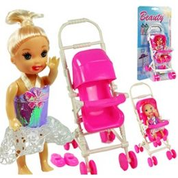 36 Units of MINI DOLL AND STROLLER SETS - Dolls