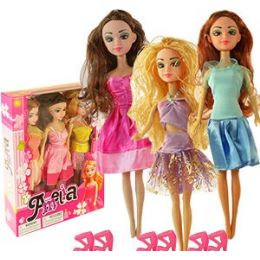 24 Units of AMELIA DOLL TRIO - Dolls