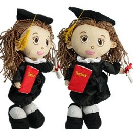 24 Units of PLUSH GRADUATION GIRLS - Dolls