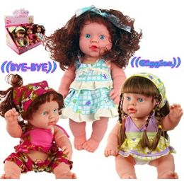 12 Units of TALKING GROWN GIRL BABY DOLLS - Dolls