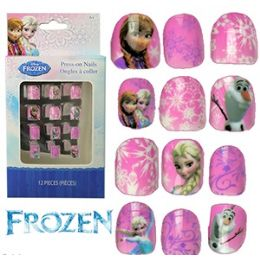 48 Units of Disney's Frozen Kiddie PresS-On Nails - Action Figures & Robots