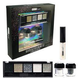 24 Units of 5 Piece Silver Glitter Makeup Sets. - Cosmetics