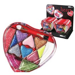48 Units of Heart Glitter Eyeshadow Kits - Cosmetics