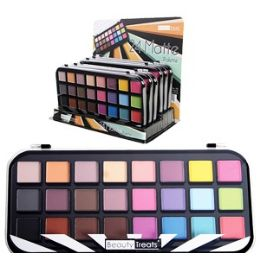 36 Units of 24 Color Matte Eyeshadow Kits - Eye Shadow & Mascara