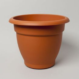 12 Units of Self Watering Planter Round Terra Cotta 17 X 17 13.5 #dahlia 17 -No Holes - Garden Planters and Pots
