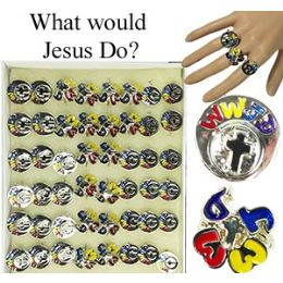 """576 Units of """"what Would Jesus Do?"""" Rings - Rings"""