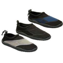 36 Units of Wholesale Mens Water Shoes - Men's Aqua Socks