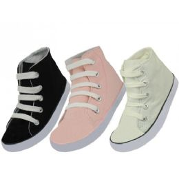 24 Units of Kids Canvas Shoes - Toddler Footwear