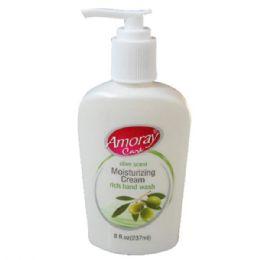 48 Units of Amoray 8oz Moisturizing Cream Hand Soap Olive - Soap & Body Wash