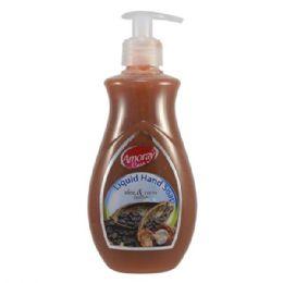 24 Units of Amoray Liquid Hand Soap 14oz Shea & Cocoa Butter - Soap & Body Wash