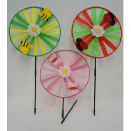 "24 Units of 13"" Round Wind Spinner [Felt Bug/Bee/Butterfly] - Wind Spinners"