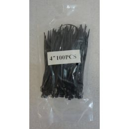 "48 Units of 100 Piece 4"" Cable Ties [Black] - Wires"
