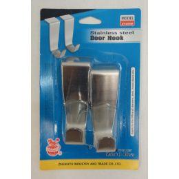 24 Units of 2pk Stainless Steel Door Hooks - Doors