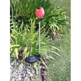 12 Units of Solar LighT-Red Bird - Garden Decor