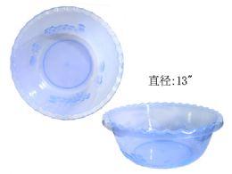 72 Units of Basin 33 Dia X 12.5cm(H) Translucent Asst Clr - Buckets & Basins