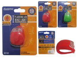 144 Units of Bike Flashing 2 Led Light - Biking