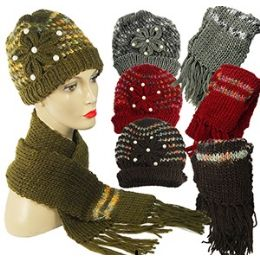 36 Units of Knit Hat And Scarf Sets. - Winter Sets Scarves , Hats & Gloves