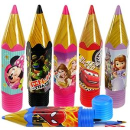 24 Units of LICENSED CARTOON PENCIL CASES. - Pencil Boxes & Pouches