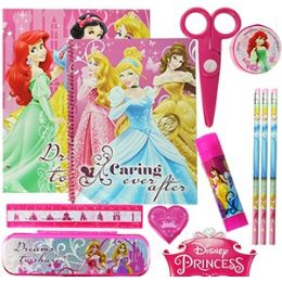 12 Units of Disney's Princess 11-Piece Value Playpack - School Supply Kits