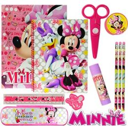 12 Units of Disney's Minnie Mouse 11-Piece Value Playpacks. - School Supply Kits