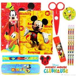 12 Units of DISNEY'S MICKEY MOUSE 11-PIECE VALUE PLAYPACKS - School Supply Kits