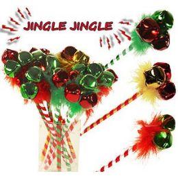 120 Units of Jingle Bell Pens. - Christmas Novelties