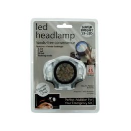 12 Units of Led Headlamp With 4 Mode Settings - Flash Lights