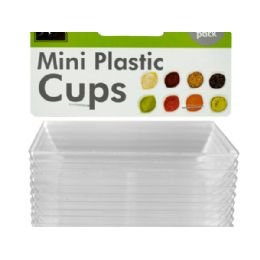 72 Units of Clear Mini Dipping Dishes Set - Plastic Bowls and Plates