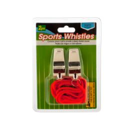 36 Units of Sports Whistles With Lanyards - Sporting and Outdoors
