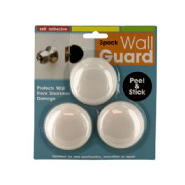 72 Units of SelF-Adhesive Doorknob Wall Guard Set - Doors