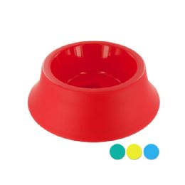72 Units of Medium Size Round Plastic Pet Bowl - Pet Accessories