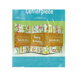 144 Units of Chic Happy Birthday Table Centerpiece - Party Paper Goods