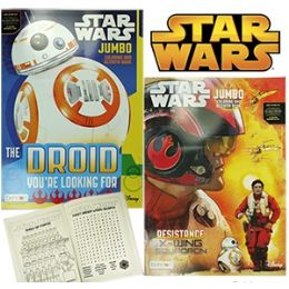 24 Units of DISNEY'S JUMBO STAR WARS COLORING AND ACTIVITY BOOKS - Coloring & Activity Books