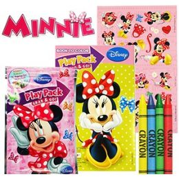 24 Units of DISNEY'S MINNIE'S BOW-TIQUE PLAY PACKS - GRAB & GO - Coloring & Activity Books