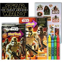 24 Units of STAR WARS PLAY PACKS - GRAB & GO - Coloring & Activity Books