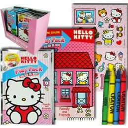 48 Units of HELLO KITTY PLAY PACKS - GRAB & GO - Coloring & Activity Books