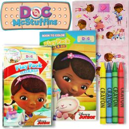 24 Units of DISNEY'S DOC MCSTUFFINS PLAY PACKS - GRAB & GO - Coloring & Activity Books
