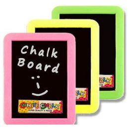 72 Units of PLASTIC CHALKBOARD SETS - Chalk,Chalkboards,Crayons