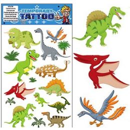 200 Units of DINOSAUR TEMPORARY TATTOOS - Tattoos and Stickers