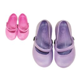 72 Units of Girl's Slippers With Strap - Girls Slippers