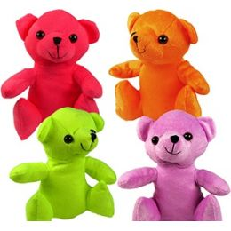 48 Units of Plush Flannel Neon Bears. - Plush Toys